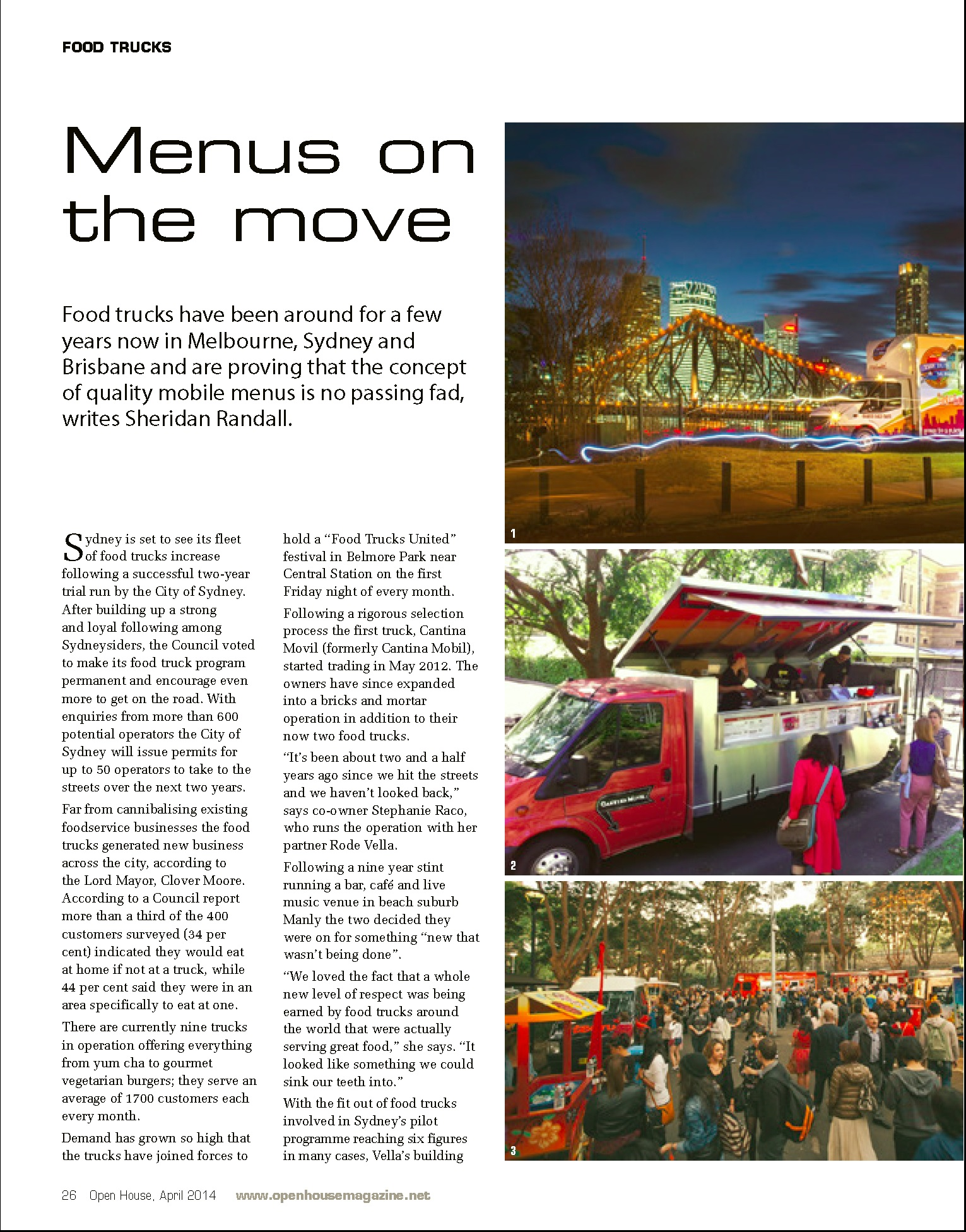 Open House Food Service Magazine PG1