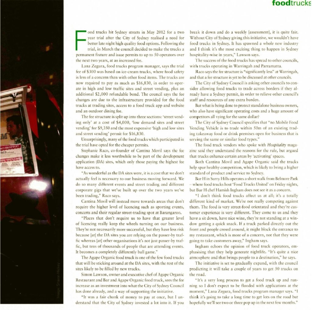 Hospitality Magazine July 2014 Article